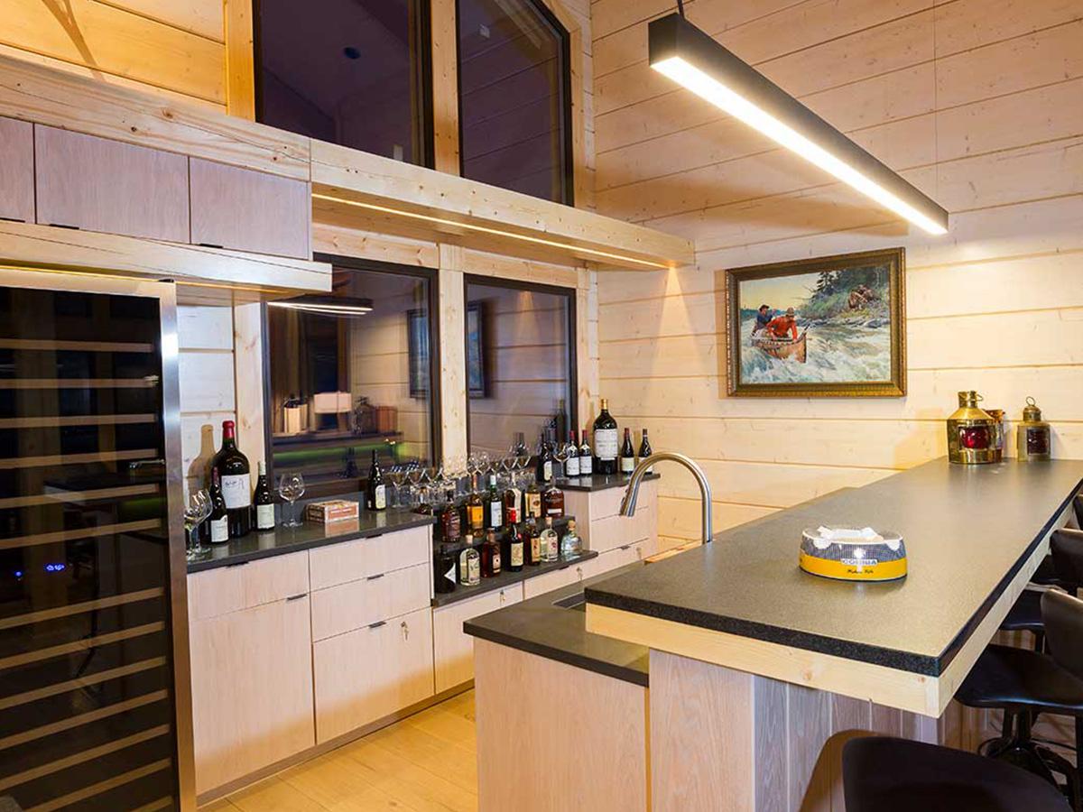Moose Hall & Lakeside Retreats kitchen area.