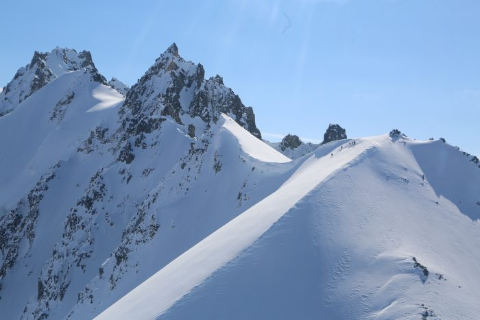 Snow covered peaks of the Tordrillo Mountains.